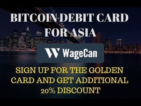 WAGECAN GOLDEN BITCOIN DEBIT CARD -Unboxing ,I Finally got my GOLDEN CARD! How to load and activate!
