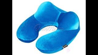 Подушка для путешествий (подголовник)(Хорошая подушка под голову для путешествий + сумочка Купить подушку можно тут: http://ali.pub/47a95 WebMoney: Z405696615863..., 2016-07-17T05:07:43.000Z)