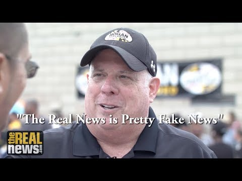 Hogan Adopts Trump's 'Fake News' Attack on Media