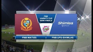 FNB Varsity Cup | Semi-Final | Maties vs UFS Shimlas