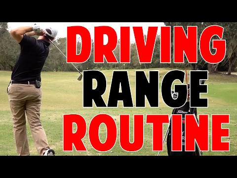 Golf Warmup Routine | Pre Round Driving Range Routine