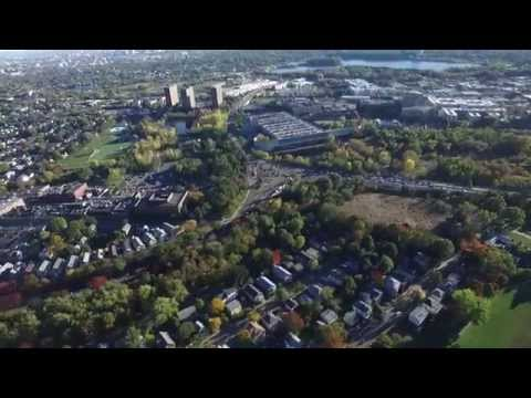 From Spy Pond to Fresh Pond, Arlington and Cambridge, Drone Footage (Full Flight)
