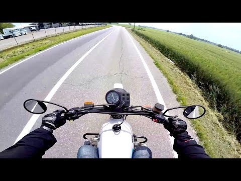 BMW r 80 G/S 1984 - RAN OUT OF FUEL -  [RAW POV]