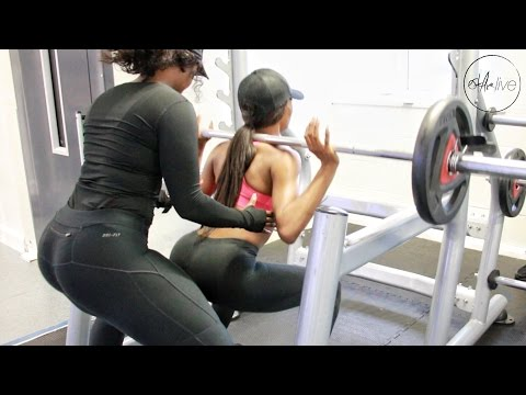 FITNESS | GYM LOWER BODY WORKOUT W/ TOLAADEKING • FOR GLUTES, QUADS & HAMSTRINGS!