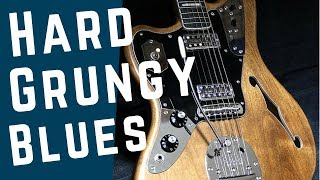 Heavy Blues Grunge | Guitar Backing Track Jam in E