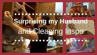 A DAY IN THE LIFE: Suprising my Husband|Cleaning Inspo
