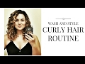 Wash & Style | Curly Hair Routine | Air dry routine | 3a/3b type | Deva Curl