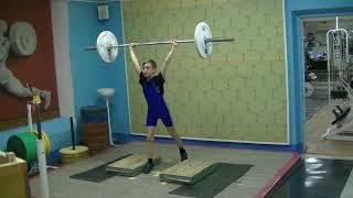 Ксенофонтов Матвей, 13 лет, св 35 Толчок 30 кг 2х4 За 2 дн до сорев.