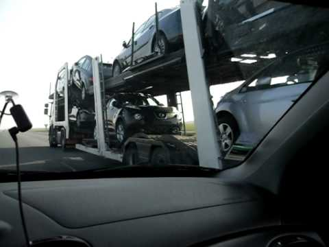 camion transport dechaume porte voiture youtube. Black Bedroom Furniture Sets. Home Design Ideas