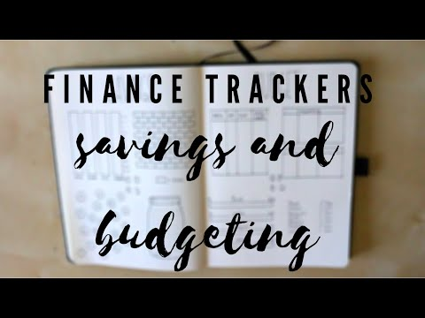 FINANCE TRACKERS | 8 Bullet Journal Spreads for Budgeting and Savings -- useful and easy to recreate