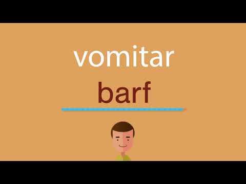 Cómo se dice vomitar en inglés