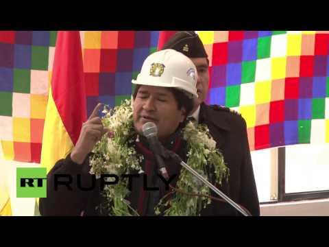 Bolivia: Evo Morales inaugurates lithium plant on world's largest salt flat