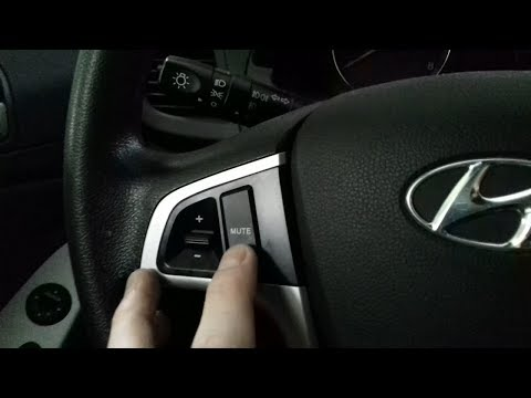Настройка кнопок руля на магнитоле Android 7.1 для Хендай Солярис (Hyundai Solaris)