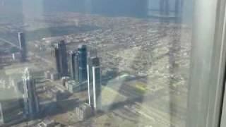 Vista dal grattacielo più alto del mondo - burj dubai - burj khalifa