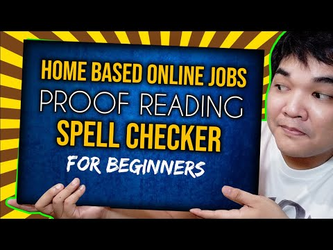 Proof Reading Online Jobs Philippines Tutorial Tagalog