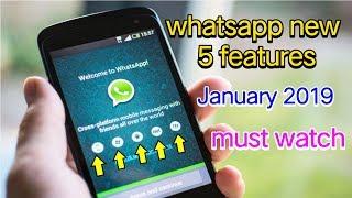 WhatsApp New 5 Features 2019 || Technical Rambali