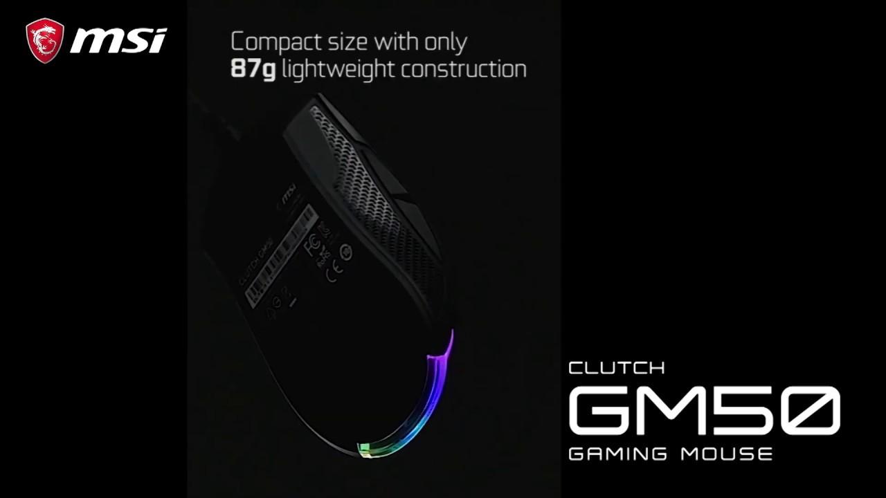 MSI CLUTCH GM50 - Une souris parfaite pour les FPS