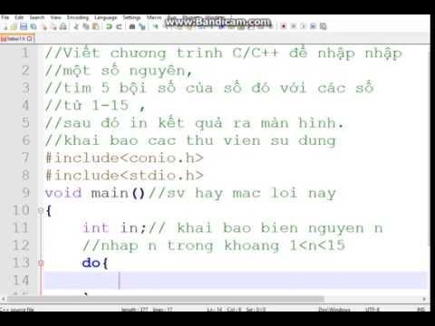 [Tự học lập trình C/C++]Viết chương trình C++ để nhập nhập một số nguyên, tìm bội số của số đó với các số từ 1-15 , sau đó in kết quả ra màn hình.