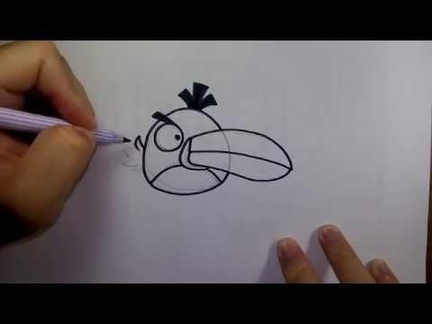 วาดการ์ตูน กันเถอะ สอนวาดรูป การ์ตูน แองกรี้ เบิร์ด สีเขียว จาก การ์ตูน แองกรี้ เบิร์ด Angry birds
