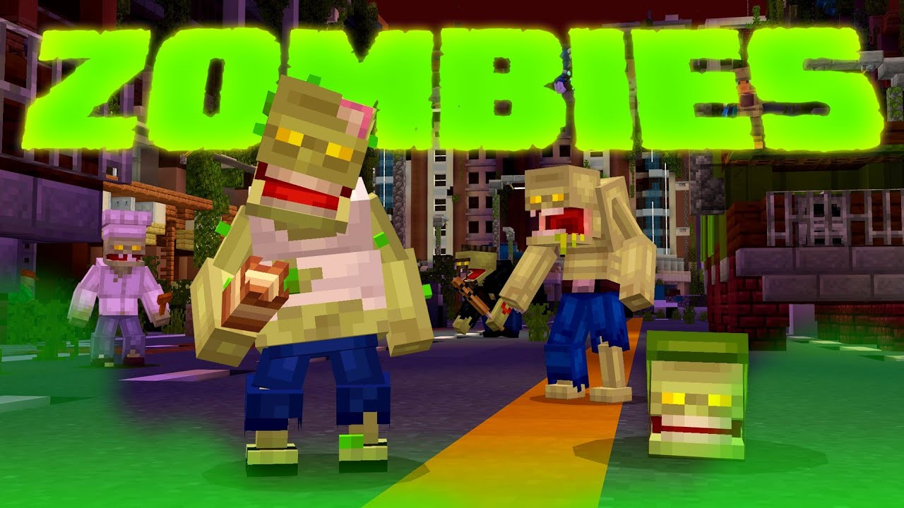 Biggest ZOMBIE APOCALYPSE in Minecraft! – Zombies Marketplace Map Gameplay [Part 1]