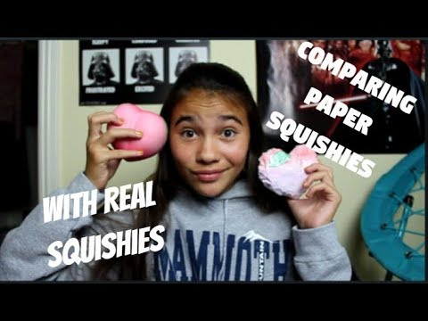 Comparing My Paper Squishies with My Real Squishies