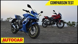 Bajaj Pulsar AS 150 VS Suzuki Gixxer SF | Comparison Test | Autocar India