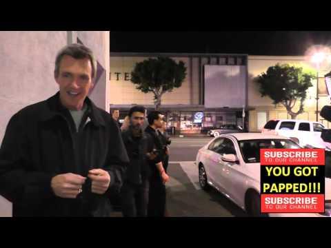 Neil Flynn talks about football outside IO West Comedy Club in Hollywood