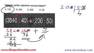 5. Sınıf Doğal Sayılarda Bölme Soru Çözümleri Video
