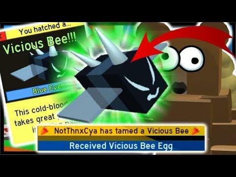 *VICIOUS BEE* EGG 250 Stingers, 4x GrandMaster Badge!  Roblox Bee Swarm Simulator