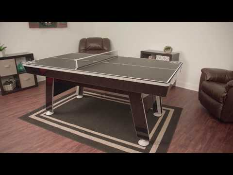 NHL 80in Hover Hockey with Table Tennis Top Assembly Video