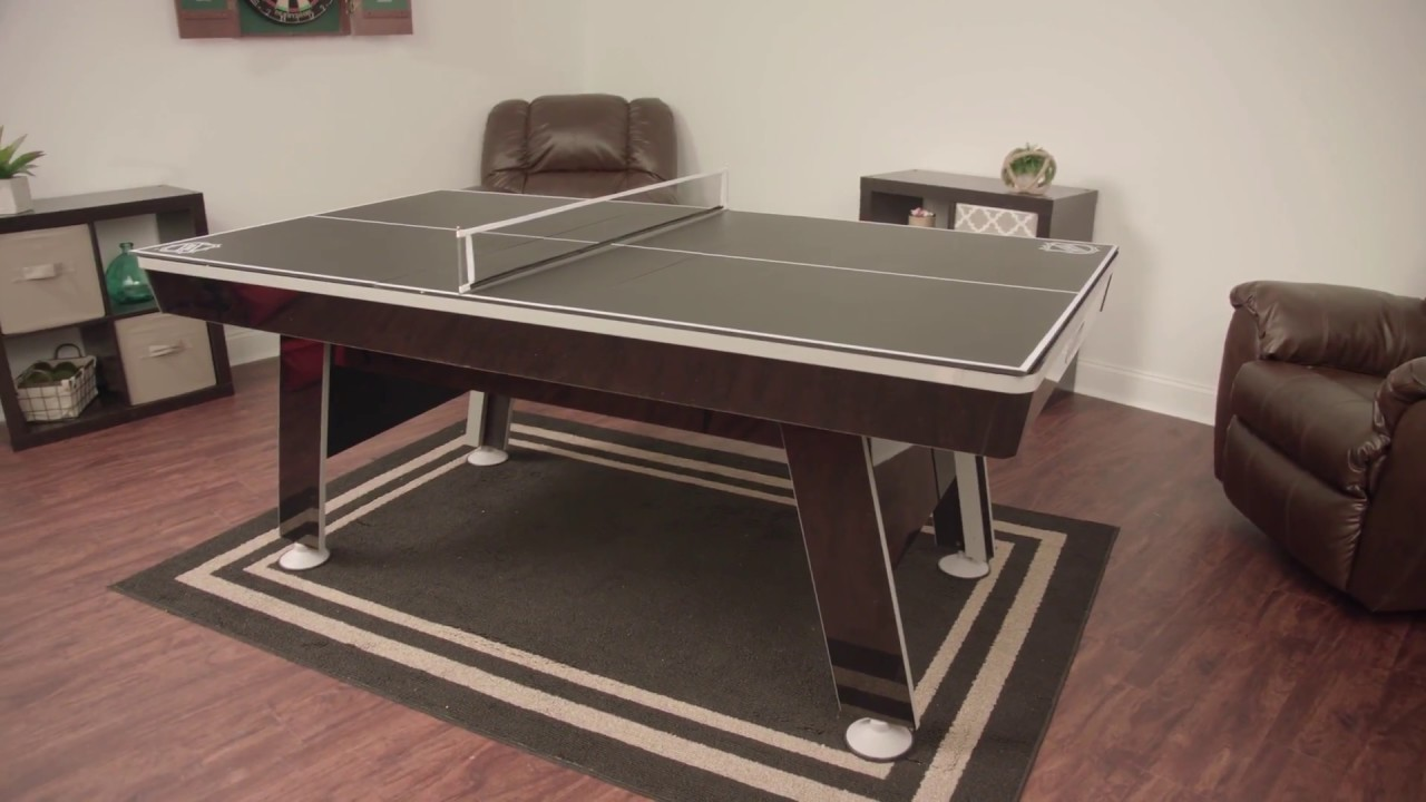 NHL In Hover Hockey With Table Tennis Top Assembly Video YouTube - Air hockey table with ping pong top