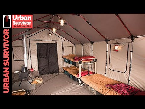 brand new 2935f 42843 OZARK TRAIL Wall tent - YouTube