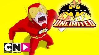 Batman Unlimited |The Race Is On! Batman And The Flash Vs Cheetah | Cartoon Network