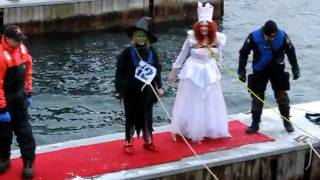 Glinda And The Wicked Witch, Polar Bear Dip In Alexandria Bay, Feb. 25 2012
