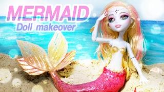 [ENG SUB][인형 리페인팅] 몬스터하이돌 라구나 인어 만들기 Repainting doll - Mermaid (monsterhigh laguna)/딩가의 회전목마 (DINGA)