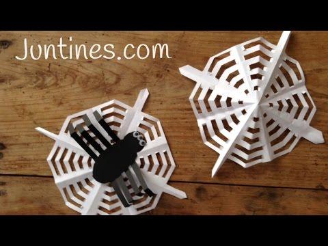 Os enseñamos a hacer una tela de araña de origami paso a paso