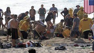 Американец погребён заживо на пляже