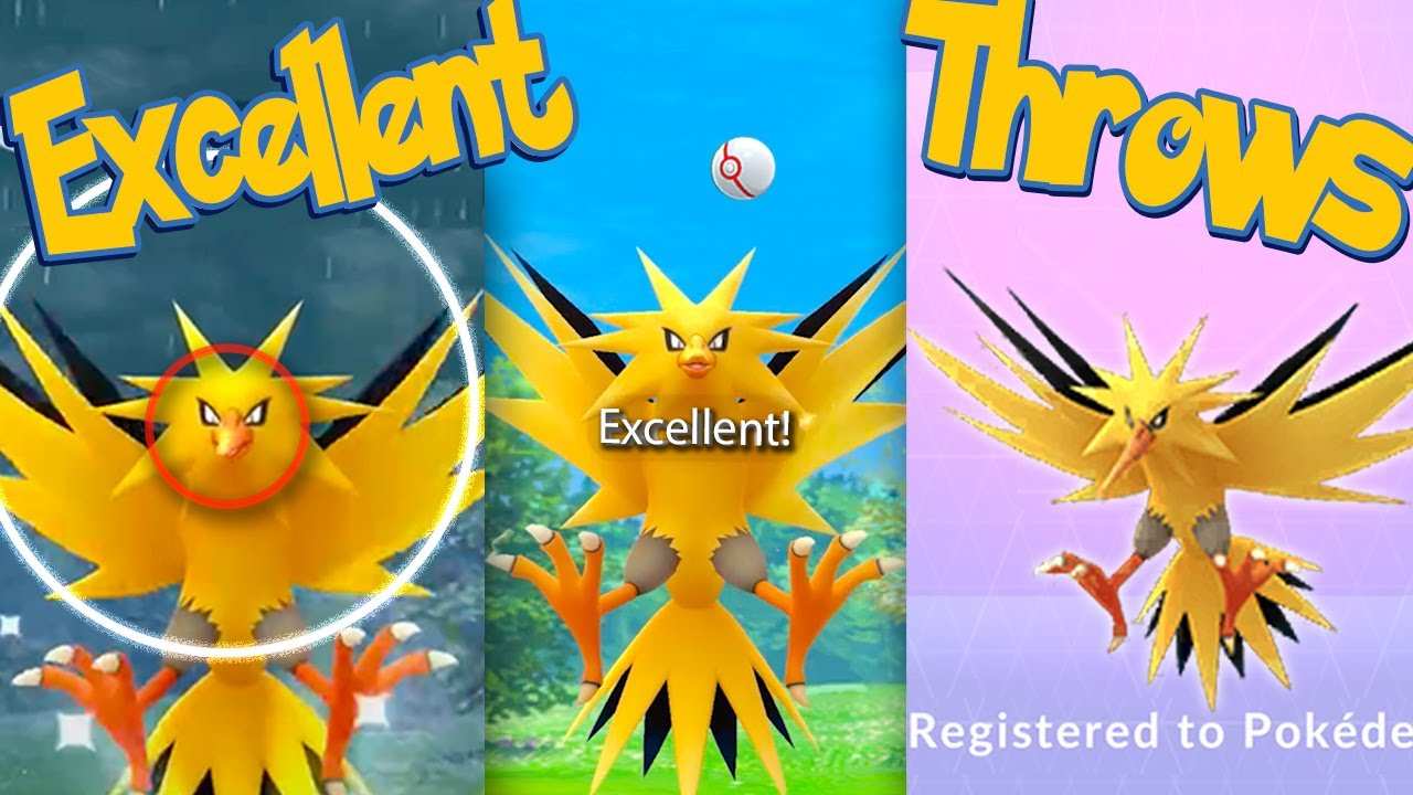 ZAPDOS Excellent Throws EVERY TIME! How To Excellent Throws When Catching ZAPDOS   Pokémon Go