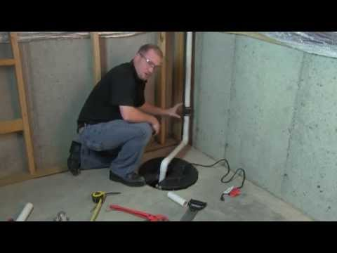 How To Install A Sump Pump Wayne Pumps Youtube