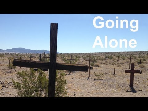Amboy California Mojave Desert ghost town cemetery - Going Alone