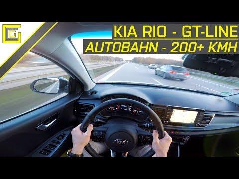 KIA RIO - GT-Line 1.0 T-GDi 120 - Autobahn POV I TOP SPEED 200+ KMH I 120 PS