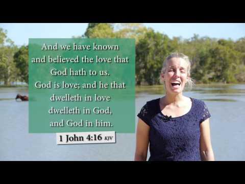 1 John 4:16 KJV -  God is love - Musical Memory Verse