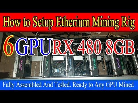 How to Setup Etherium Mining Rig With 162 Mh/s (RX 480 8GB 6xGPU) Urdu/Hindi By Zakria 2017