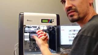 XYZ 3d printer da vinci 2.0a duo unboxing and first print