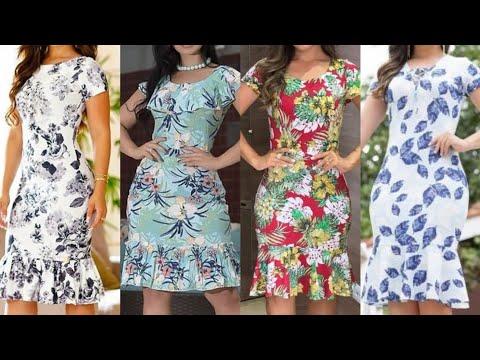 Good Looking Stylish Casual Wear Line Marmaid Sheath Bodycon Dress Design 2020