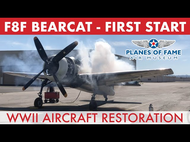 F8F BEARCAT First Engine Start w/ Steve Hinton | Hangar Talk | Planes of Fame