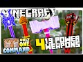 Minecraft 1.9 | 4 MAGIC POWER WEAPONS | Tornado Staff, TNT Bombs & More! (Custom Command)