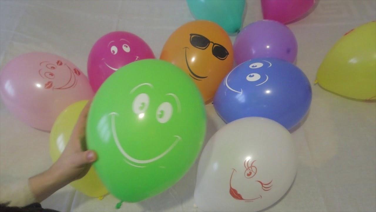 Песня веселых капитошек на русском воздушные шарики Учим ...