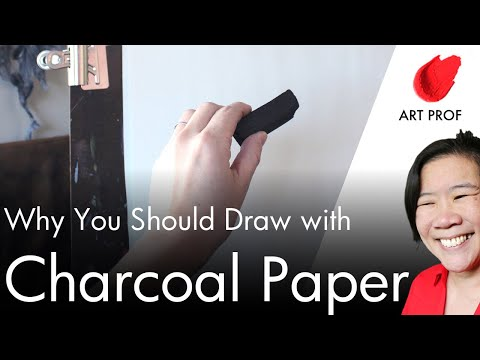 Art Supplies:  Charcoal Drawing & Charcoal Paper / ART PROF