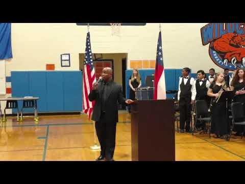 Carson Coker Performs Taps, Smokey Road Middle School Veterans Day Program, 11/9/2018